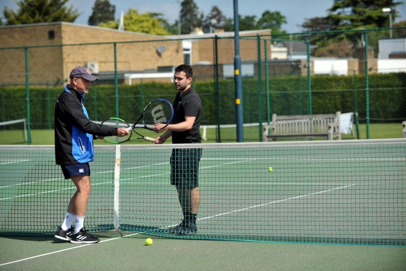 Adult tennis coaching East Glos