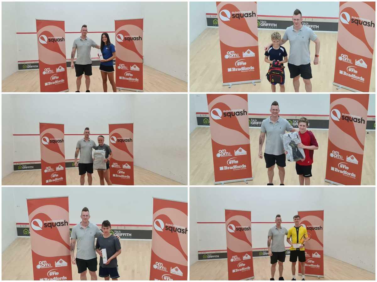 East Glos junior squash winners