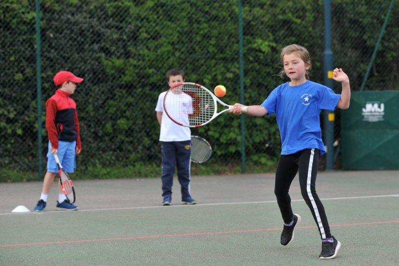 Junior tennis player